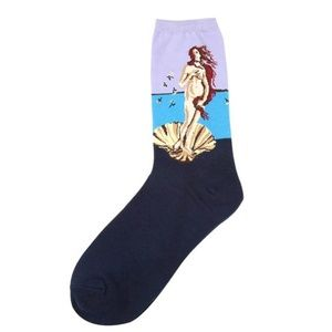 Birth of Venus Women's Cotton Crew Socks